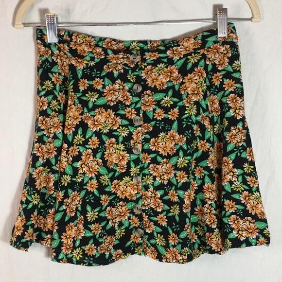 La Hearts Dresses & Skirts - L.A. Hearts Button Front Floral Mini Skirt Sz S
